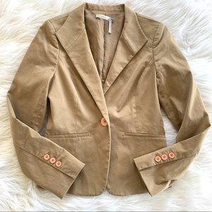 Classiques Entier Tan Single Button Blazer